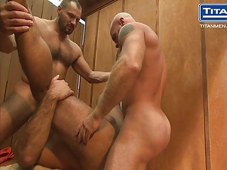 Alex Baresi, Arpad Miklos and Eduard go to the sauna to relax and fuck