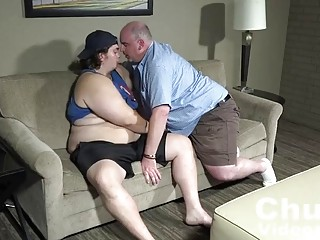 Older guy has a chubby boy that he loves fucking with