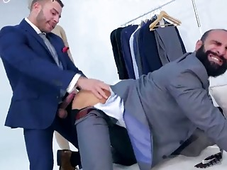 Hunky model finds himself being anal fucked before a shoot
