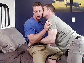 Hunky gay babe is eager to take this hard meat