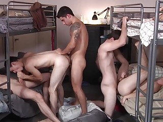 Delinquents at the group home have a gangbang