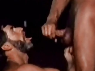 Retro gay porn with bearded men with huge dicks