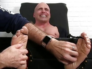 Buff hunk begs for mercy during tickling