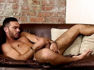 Latino jock teases with his fit body and jerks off