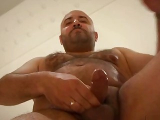 Chubby guy showers and masturbates