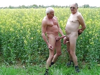 Horny grandpas and older gays showing off their stuff