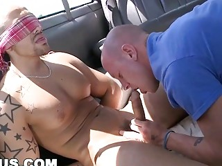 Mexican straight guy is shocked to see a dude's mouth on his cock