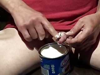 Buck greases up with Crisco for masturbation