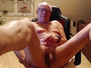 Grandpa has a vibrator in his bum