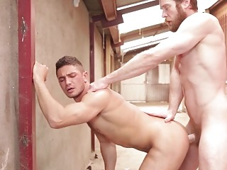 Colby Keller takes Dato Foland's tight bum