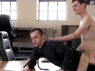 Office stud pounded and creamed by horny new associate