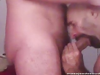 Bald beefcake is absolutely split by a massive bareback cock