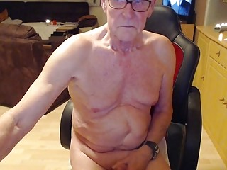 Old naked man talks dirty online
