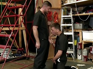 Warehouse workers sneak in time for anal sex