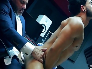 Manuel and Pietro getting naked and nasty at work