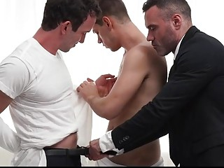 Pervert priests take turns with a missionary boy