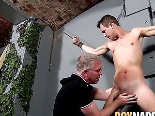 Twink obeys his master as he enjoys receiving blowjob