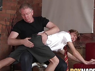 Old and young bondage with schoolboy